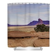 Mitchell Butte From Mystery Valley Shower Curtain