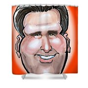 Mitt Romney Caricature Shower Curtain