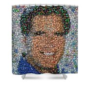 Mitt Romny President Button Mosaic Shower Curtain