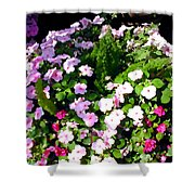 Mixed Impatiens In Dappled Shade Shower Curtain