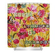 Mixed Media - Dream Anything Is Possible Shower Curtain