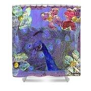 Mixed Media Peacock Art - Gipsy Rondo Shower Curtain