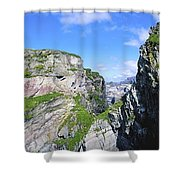 Mizen Head, Ivagha Peninsula, Co Cork Shower Curtain