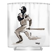 Mlb Base Hit Shower Curtain
