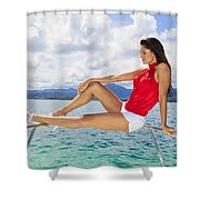 Model At Kaneohe Bay Shower Curtain