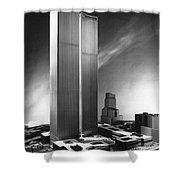 Model Of World Trade Center Shower Curtain