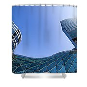 Modern Architecture In Downtown Shower Curtain by Artur Bogacki