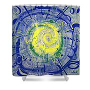 Modern Art Five Shower Curtain