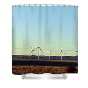 Modern Blinding Power B Shower Curtain