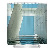 Modern Building Viewed From Below Shower Curtain