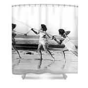 Modern Dance On The Beach Shower Curtain