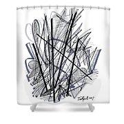 Modern Drawing 112 Shower Curtain