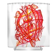 Modern Drawing 113 Shower Curtain