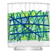 Modern Drawing Ninety-nine Shower Curtain