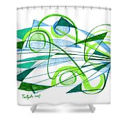 Modern Drawing Ninety-one Shower Curtain