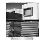 Modern Morrison Bw Palm Springs Shower Curtain