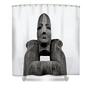 Modern Sculpture Shower Curtain