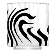 Modern Zebra  Shower Curtain
