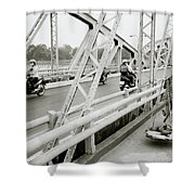 Modernity In Hue Shower Curtain