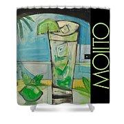 Mojito Poster Shower Curtain