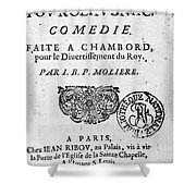 Moliere (1622-1773) Shower Curtain