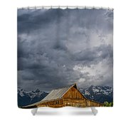Molton Barn And Approaching Storm Shower Curtain