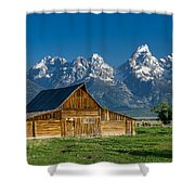 Molton Barn And Grand Tetons Shower Curtain