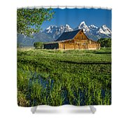 Molton Barn And Trees Shower Curtain