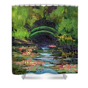 Momet's Water Lily Garden Toward Evening Shower Curtain