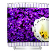 Moms Day Humor Card Shower Curtain