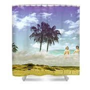 Mom's Tropical Dreams Shower Curtain