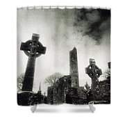 Monasterboice, Co Louth, Ireland Shower Curtain