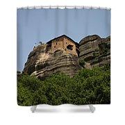 Monastery Of Saint Nicholas Anapafsas Shower Curtain