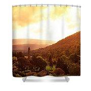 Monastic Site, Glendalough, Co Wicklow Shower Curtain