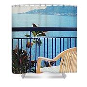 Mondello Bay Sicily Shower Curtain
