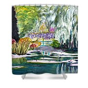 Monet's Jardin De L'eau Shower Curtain