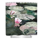 Monet's Lily Pads Shower Curtain