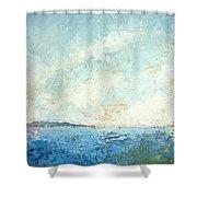 Monhegan From Pemaquid Shower Curtain
