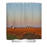 Moning In The Heartland Shower Curtain