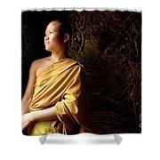 Monk Alex Laos Shower Curtain