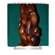 Monkey Carving Shower Curtain
