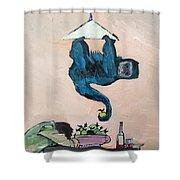 Monkey Stealing An Apple Shower Curtain