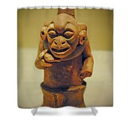 Monkey Stone Shower Curtain