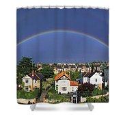 Monkstown, Co Dublin, Ireland Rainbow Shower Curtain
