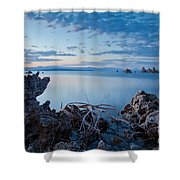 Mono Lake After Sunset Shower Curtain