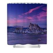 Mono Lake's Fiery Sky Shower Curtain