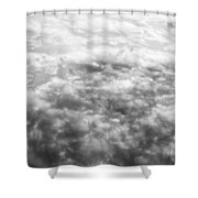 Monochrome Clouds Shower Curtain