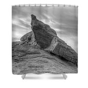 Monochrome Landscape Project 1 Shower Curtain