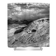 Monochrome Landscape Project 2 Shower Curtain
