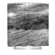 Monochrome Landscape Project 3 Shower Curtain
